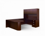 OTG Ventnor Wood Veneer U-Shape D-Top Desk Unit