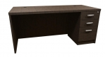 Trendway Executive Intrinsic 30D x 66W Pedestal Desk