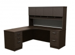 Trendway Executive Intrinsic Left 66 x 72 Corner Desk  with Paper Management Hutch