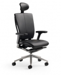 Trendway T51 Executive Leather Task Chair with Headrest