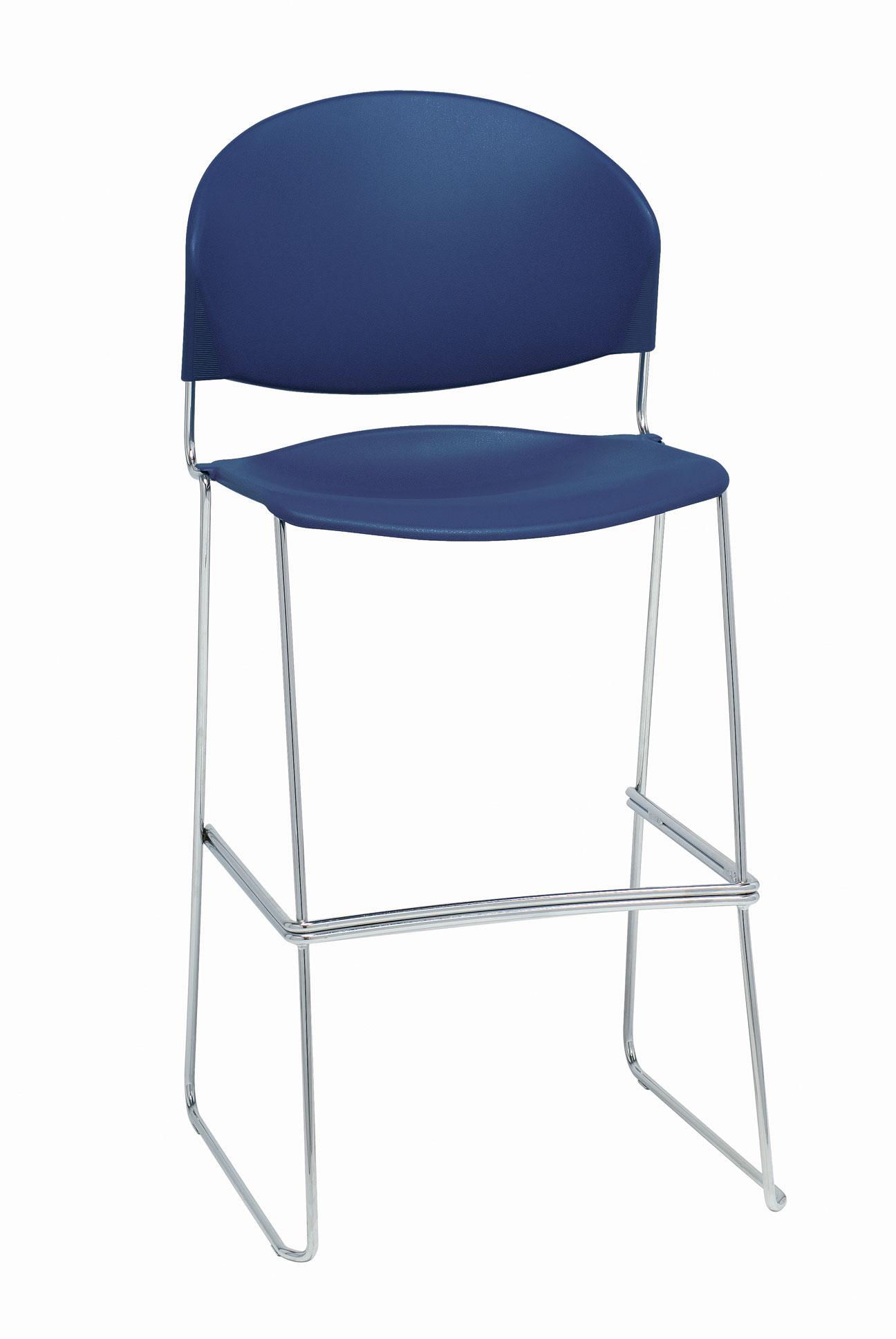 Excellent Trendway Jet Poly Cafe Height Chair Studio 71 Gsa Bpa Beatyapartments Chair Design Images Beatyapartmentscom